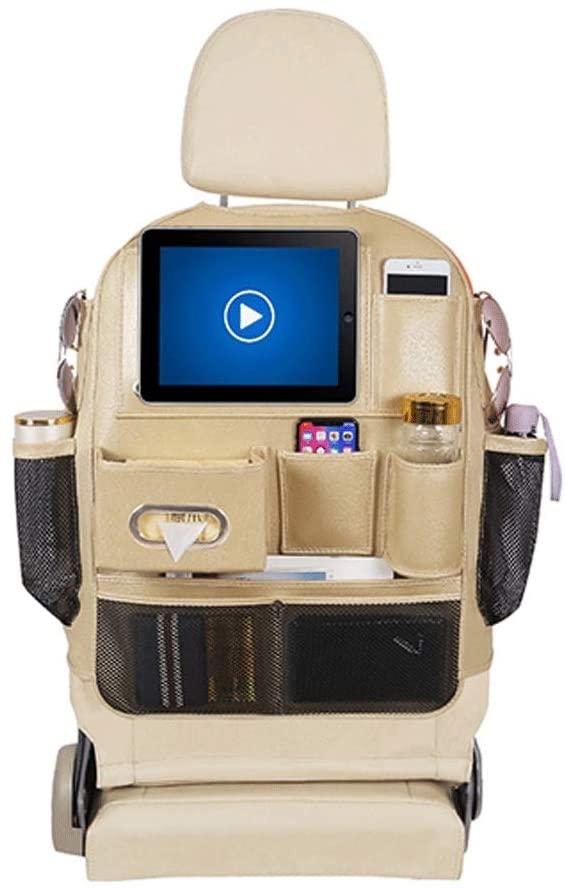 매달려 가방 ZLZ- 카 시트 백 수납 가방 가방 뒷좌석 다기능 백레스트 테이블 수납 가방 인테리어 용품 서스펜션 (색상 : 베이지)