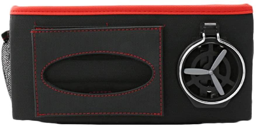 WGZ- 카시트 백 스토리지 가방 매달려 가방 카 뒷좌석 다기능 백레스트 테이블 수납 가방 내부 용품 백레스트 스토리지 (색상 : 블랙-B)