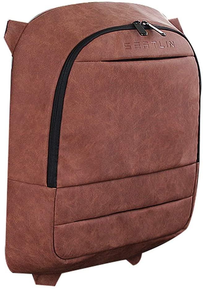 WGZ- CAR SEAT BACK STORAGE BAG HANGING BAG CAR BACK SEAT MULTI-FUNCTION BACKREST TABLE STORAGE BAG INTERIOR SUPPLIES BACKREST STORAGE (COLOR : BROWN)