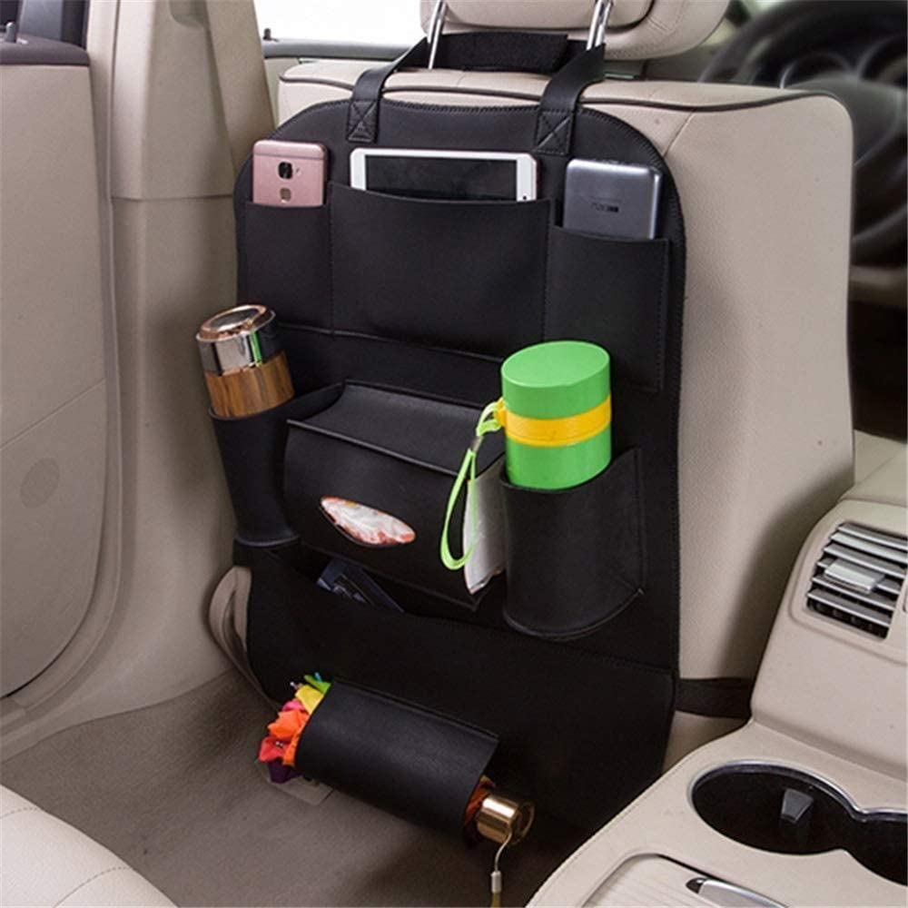WGZ- CAR SEAT HANGING BAG SEAT BACK COVER CHILD CAR REAR SEAT STORAGE BAG MULTIPLE POCKET STORAGE BAGS BACKREST STORAGE (COLOR : C1 SIZE : FREE)