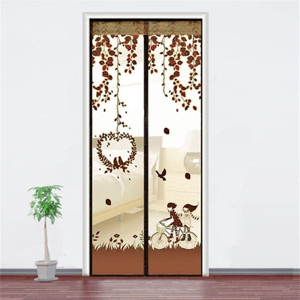 WBFN 반대로 모기 커튼 무료 자기 문을물 반대로 플라 곤충 모 문 화면 반대로 모기 자기 커튼을 위한 메시 문 220(색상:커피 크기:100X210CM)