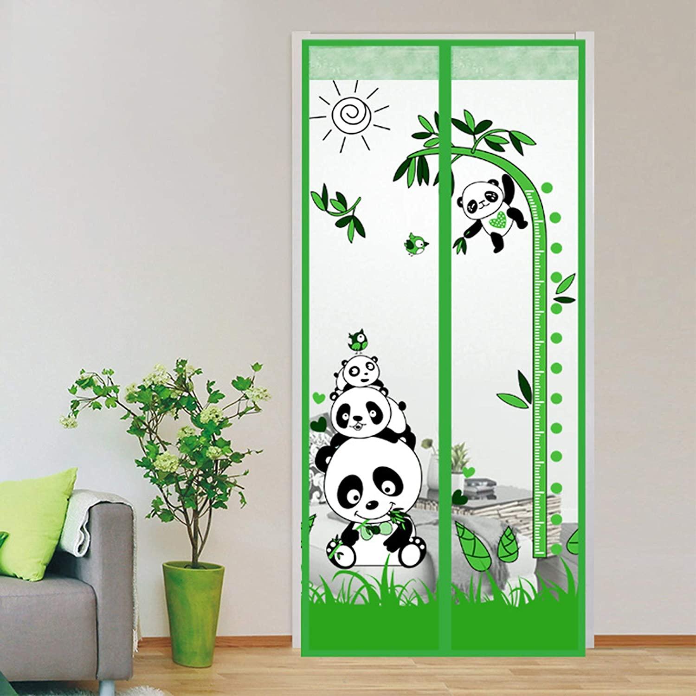 그래-HHI 자기 화면으로 문을 무거운 듀티 커튼 메시고 절묘한 패턴과 전체 프레임을 끈끈한 지구 핸즈프리 애완 동물 친절한 아이 녹색 90210CM