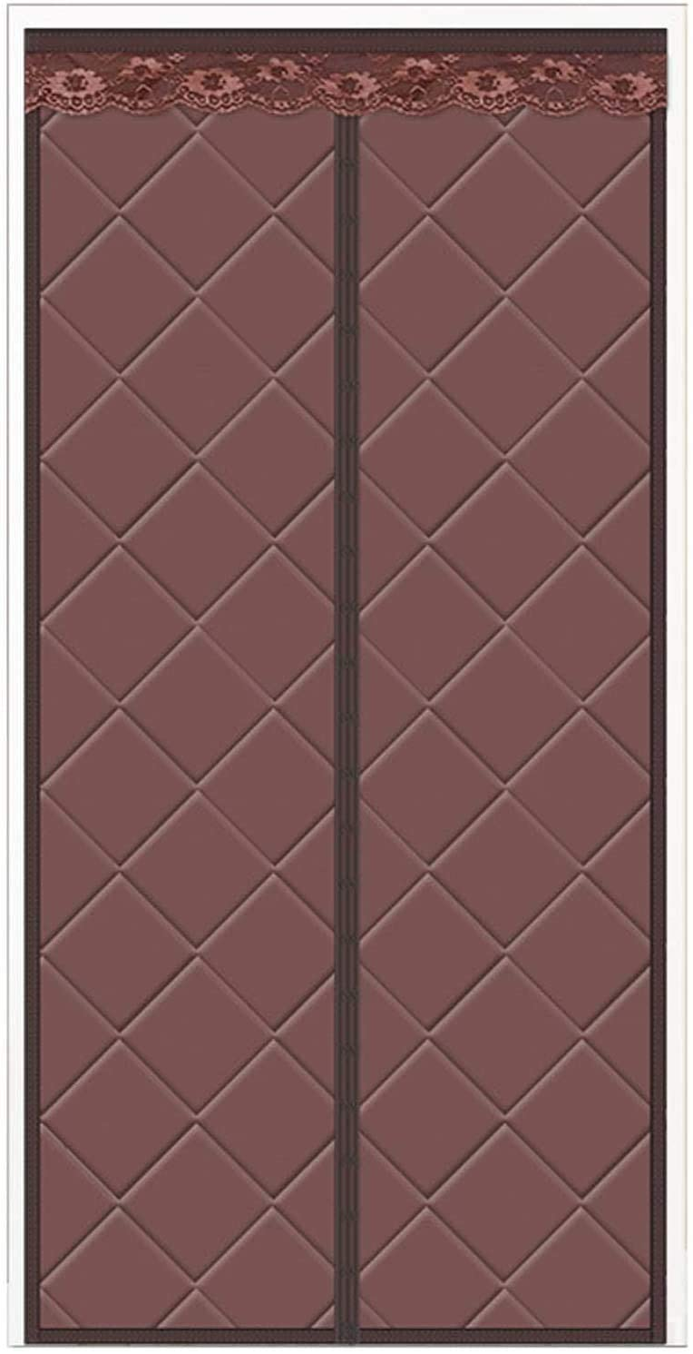 BUYT 격리되는 자기장 문 커튼 열에 의하여 격리되는 문 커튼 겨울 면 커튼 소음 감소 계속 따뜻한 자기 외 접는 문서(색상:보통 B 크기:48WX83H)
