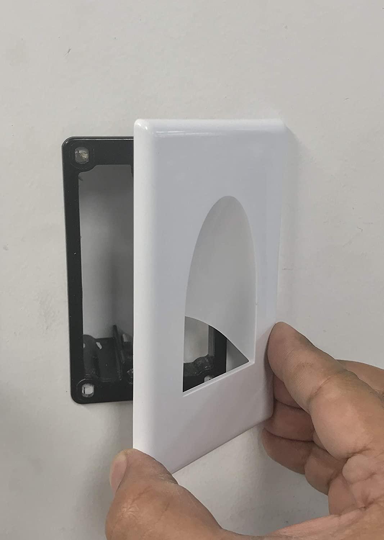 1-갱 스크류 덜 매입 형 저전압 케이블 벽 플레이트(1 팩)저전압 장착 브래킷(1 팩)