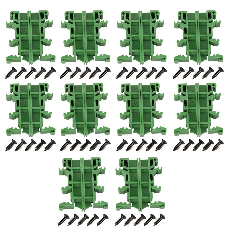 범용 PCB 브래킷 장착 브래킷 홀더 캐리어 DIN 레일 어댑터 DIN C45 레일 장착 용 10 세트