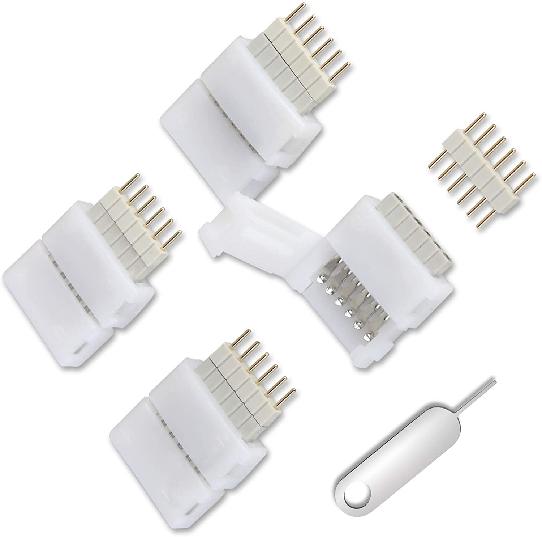필립스 색조 라이트 스트립 플러스 6 핀-컷 엔드 커넥터 용 4 팩 실내의 벽 라이트 스트립 커넥터 용 커넥터(V3 버전 전용)