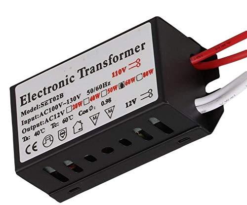 할로겐 | 크세논 전자 변압기 60 와트 최대 산출 120 볼트 입력 | 12 볼트 산출 변압기