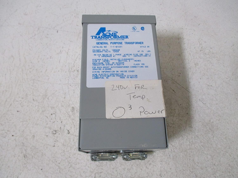 ACME ELECTRIC T181051 벅 부스트 변압기 단상 120X240 기본 볼트-12 | 24 보조 V 500VA