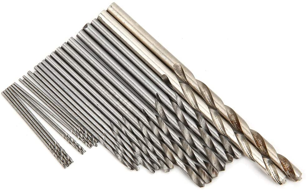 IFCOW 25PCS ALUMINIUM ALLOY DRILL BIT KIT REPLACEMENT ACCESSORIES SET FOR HAND TWISTED DRILL BIT KIT