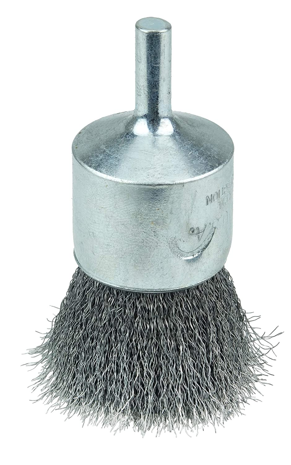 WEILER 36284 WOLVERINE 1 CRIMPED WIRE END BRUSH.006 STEEL FILL 1 | 4 STEM MADE IN THE USA (PACK OF 10)