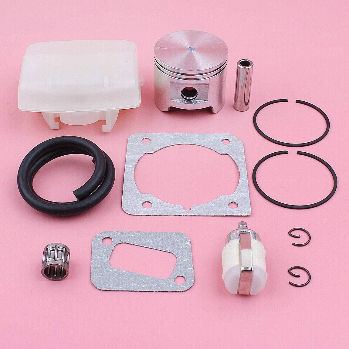 REPLACEMENT PARTS FOR HUQ 45MM PISTON AIR FUEL FILTER LINE KIT FOR HUSQVARNA 353 350 NEEDLE BEARING GASKET