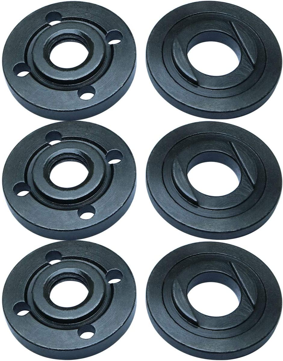 TOTOT 3SETS ANGLE GRINDER LOCK NUT REPLACEMENT FLANGE SET KIT ANGLE GRINDER FITTING PART