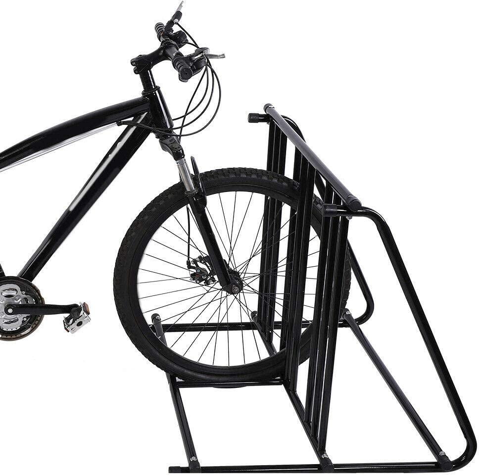 MANOCH6 자전거 자전거 스탠드 주차 차고 스토리지 주최자 사이클링 랙 물자:철 크기(LWH):대략. 88.5 74.5 72 센치메터   34.8 29.3 28.3IN 무게:약.5 센치메터   34.8 29.3 28.3IN 7.6 키로그램 색상:블랙