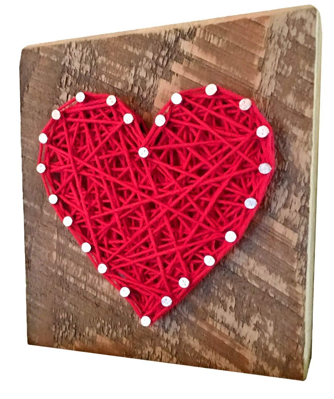 발렌타인 데이를 위한 하트 스트링 아트 사인 기프트. 그를 위해 선물 그녀의 아내 남편과 아이들. 독특한 발렌타인 데이 선물. 나는 당신이 키트가 아닌 선물을 사랑 해요