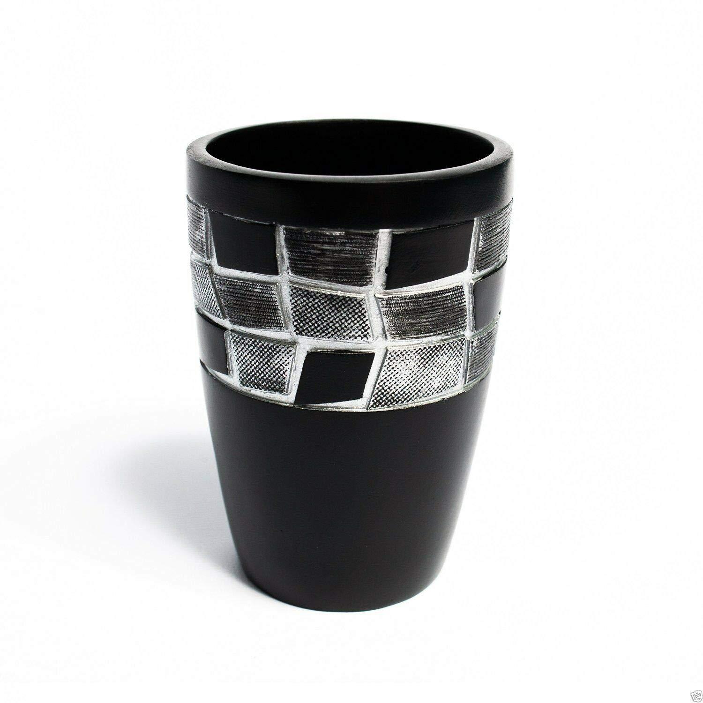 인기 목욕 모자이크 스톤 블랙 수지 텀블러