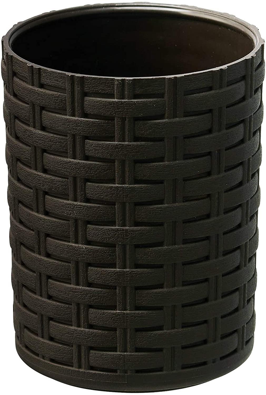 SUPERIO 위커 욕실 액세서리-장식 짠 디자인(브라운 텀블러)