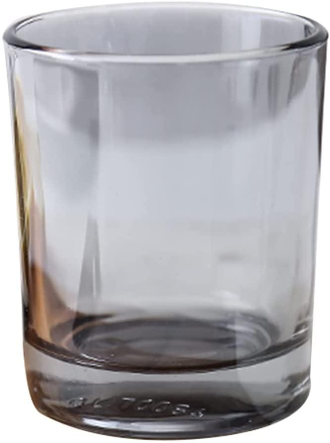 북유럽 스타일의 구강 컵 호텔 호텔 호흡 컵 두꺼운 열 저항하는 부드럽게 한 유리제 호흡 컵에 물 한 컵(색상:회색 크기:7.18.5CM)