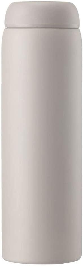 스테인리스 두 배 벽 답답한 병에 의하여 격리되는 열 절연제 비즈니스 선물 차 컵 야외 스포츠 하이킹 휴대용(색상:스모그(450ML))