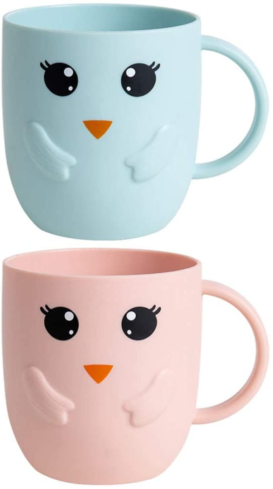 CABILOCK4 개 젖빛 세척 컵 사랑스러운 세척 컵 간단한 어린이 칫솔 컵