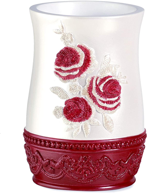 인기 목욕 꽃 장미 텀블러 부르고뉴