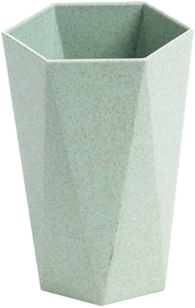 LUEST 기하학 모양 목욕 텀블러 컵 4 색 경량 입 세척 컵 야외 여행 하이킹 세척 용품(녹색)