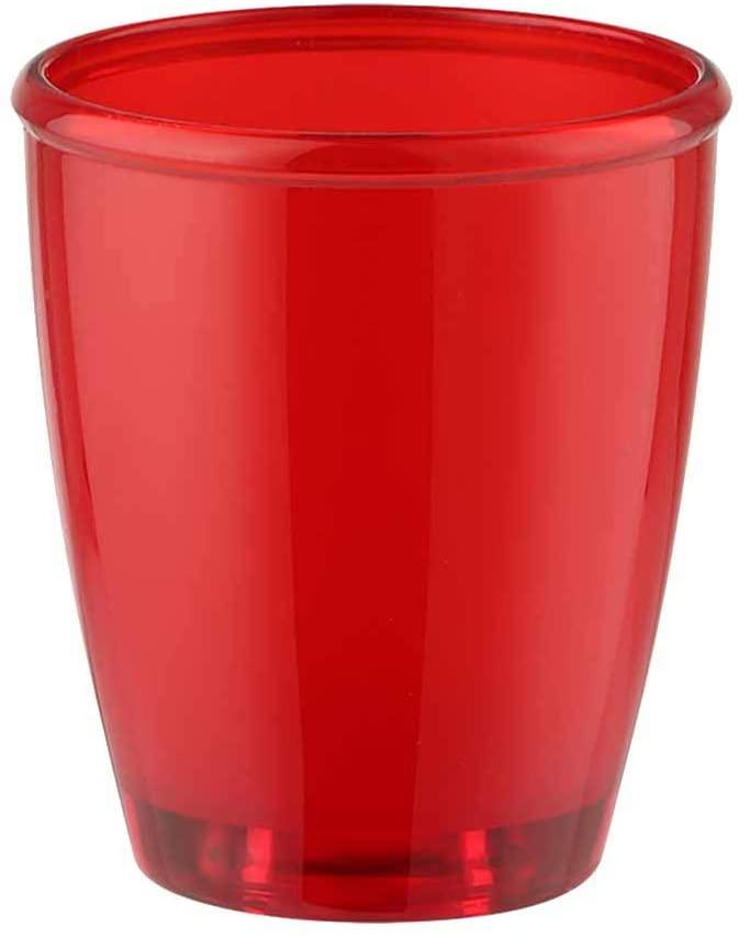 QLSJ 서리로 덥은 플라스틱 욕실 텀블러 컵 에 대한 싱크대는 목욕탕 허영으로도 훌륭한 펜 홀더와 메이크업 브러쉬 홀더에 빨간