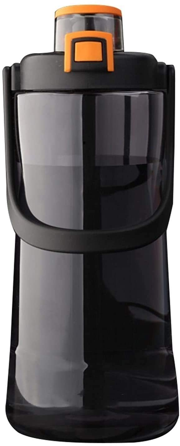 LUXMAX 절묘한 스포츠 물 컵 스포츠 마시는 물 한 병 2000ML 플라스틱 대용량의 물을 마시는 병 휴대용 옥외 컵 용기 사람이 병 048(색상:녹색)(색상:검정)