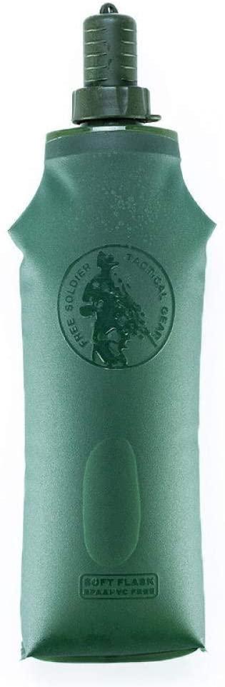 자신을 믿고 부드러운 물병 야외 스포츠 휴대용 등산 실리콘 물병 FOLDABLE 물 부대(COLOR:B)
