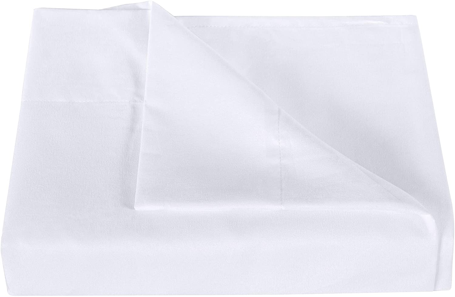 NTBAY MICROFIBER TWIN BEDDING FLAT SHEET ULTRA SOFT AND WRINKLE FADE STAIN RESISTANT TOP SHEET WHITE