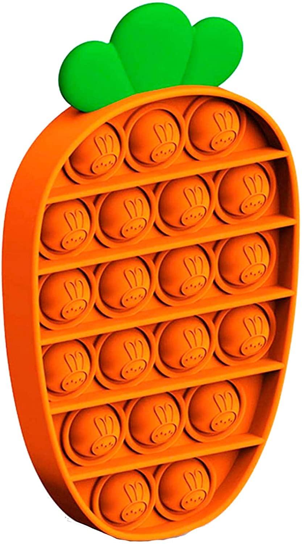 ZYHO PUSH POP POP BUBBLE SENSORY FIDGET GAME EXTRUSION BUBBLE FIDGET SENSORY GAME GIFT (ORANGE)