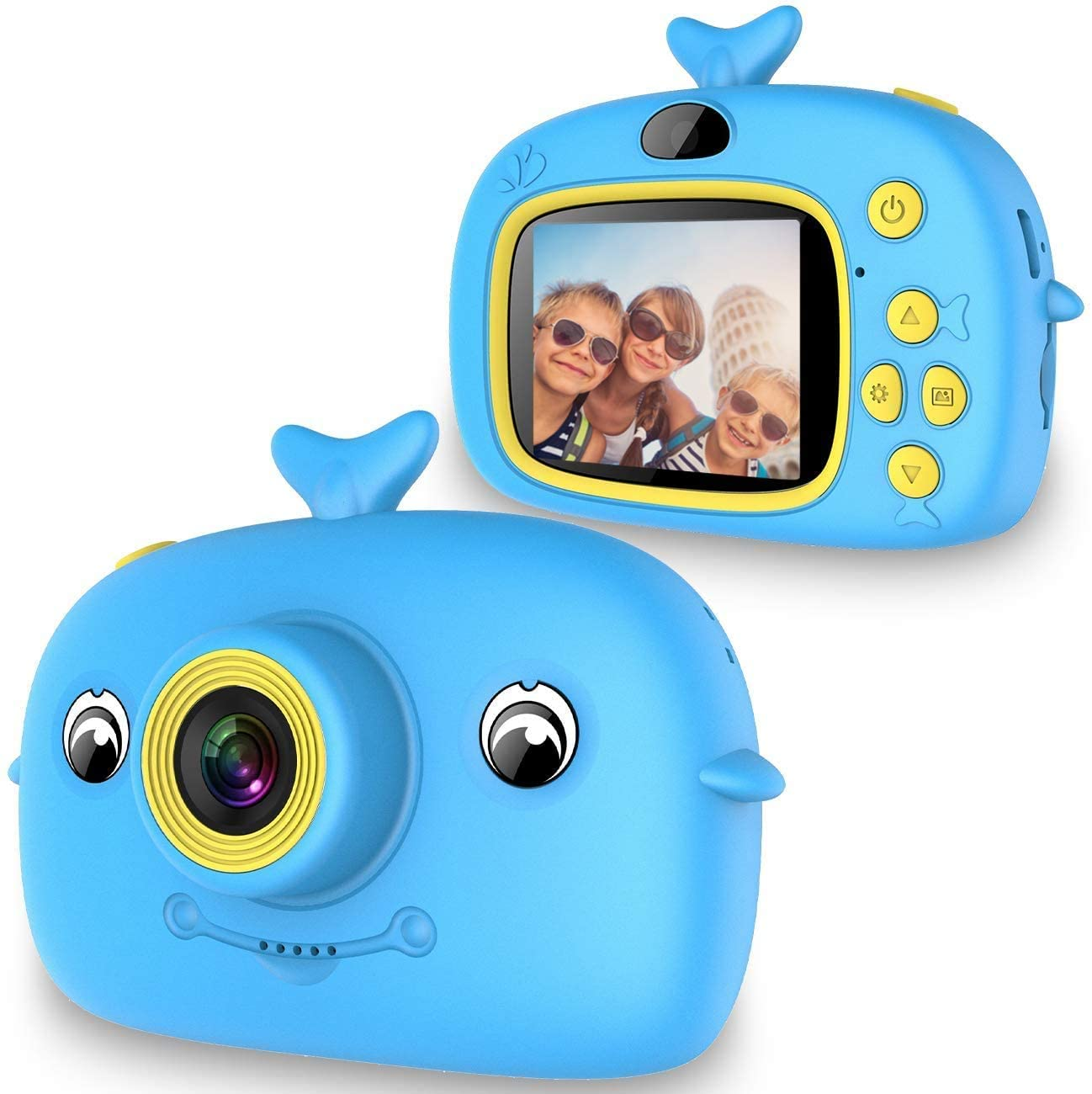 UPGRADE KIDS CAMERA 1080P HD DIGITAL VIDEO CAMERAS FOR CHILDREN 2IN DIGITAL CAMERA TOYS GIFT FOR TODDLER AGE 3-UP YEAR OLD BOYS GIRLS PRESCHOOL BIRTHDAY PRESENT (BLUE)