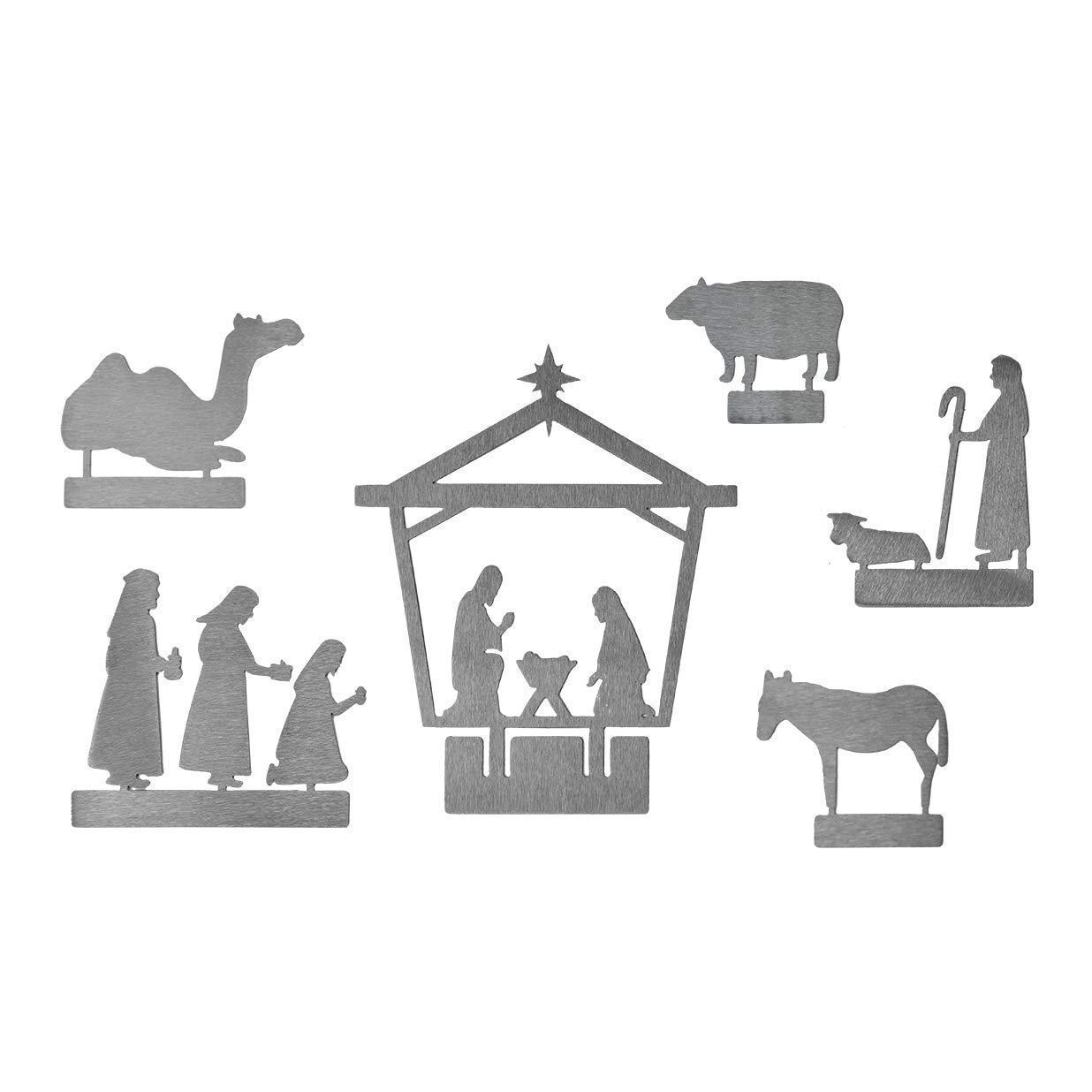 6 피스 메탈 크리스마스 출생 세트