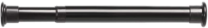 LXM PUNCH-FREE CLOSET POLE ADJUSTABLE HANGER NON-SLIP DESIGN MULTIFUNCTION CURTAIN ROD FOR SHOWER STALL CLOSET BLACK