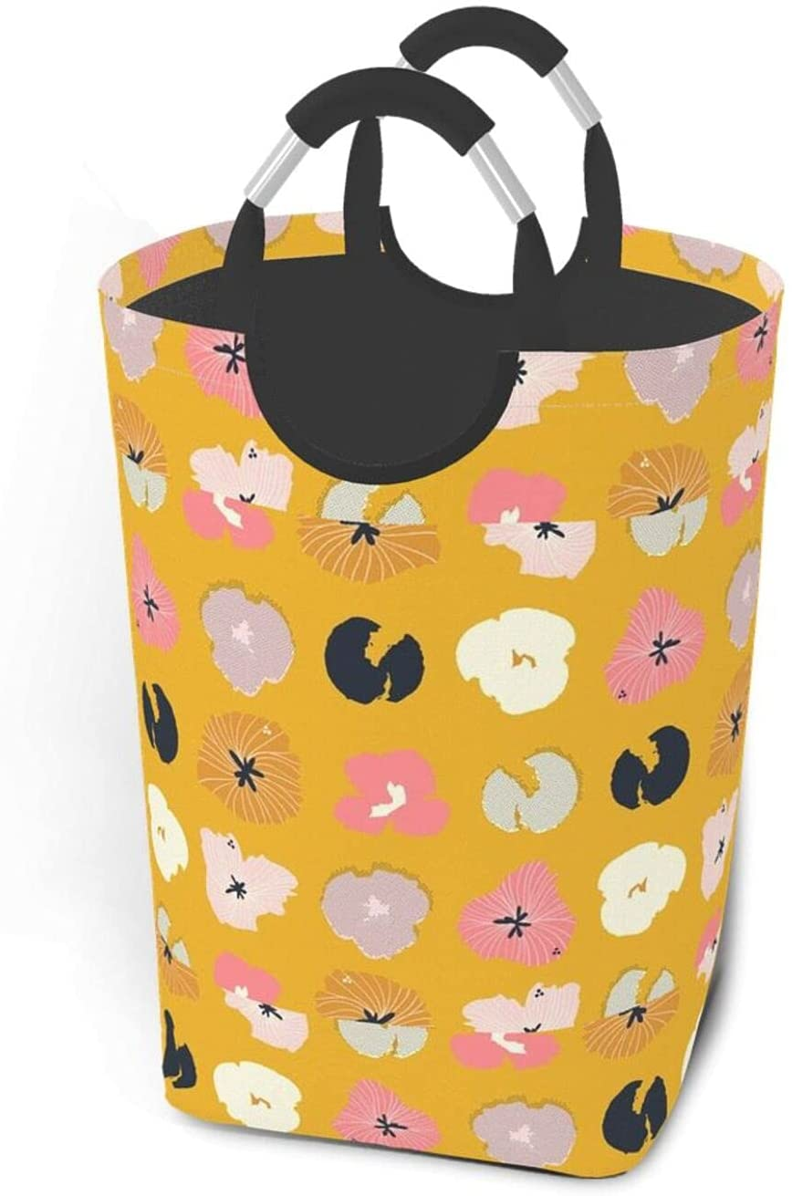 TEXTURE PATTERN LAUNDRY BASKET DIRTY CLOTHES PACK COLLAPSIBLE LARGE HANDLES HAMPER PORTABLE STORAGE ORGANIZER BASKETS GREAT FOR KIDS ROOM COLLEGE DORM OR PARLOUR