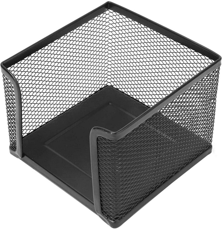 스티커 메모 홀더 홈 오피스 데스크탑 용 메쉬 스티커 메모 디스펜서 10.4X10.4X7.9CM