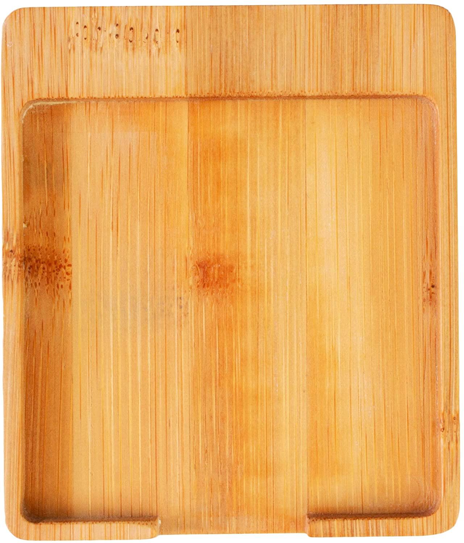 칸막이 또는 홈 오피스를위한 완전히 대나무 스티커 메모 홀더 데스크 주최자