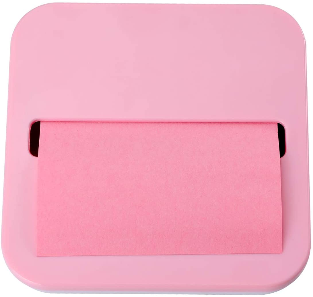 TOOSELL STICKY NOTE DISPENSER FOR 1 PACK 3 INCHES X 3 INCHES HOLDER SET DESIGNED TO WORK SELF-STICK NOTES (PINK)