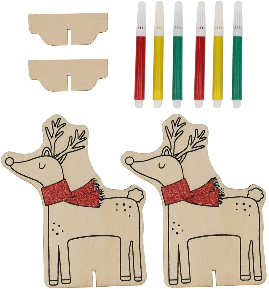 SALATY SNOWMAN ORNAMENT BEAUTIFUL DURABLE CHRISTMAS ORNAMENT LOVELY CHRISTMAS ACCESSORY FOR GIFT TAGS HANDWRITTEN TAGS(DEER)
