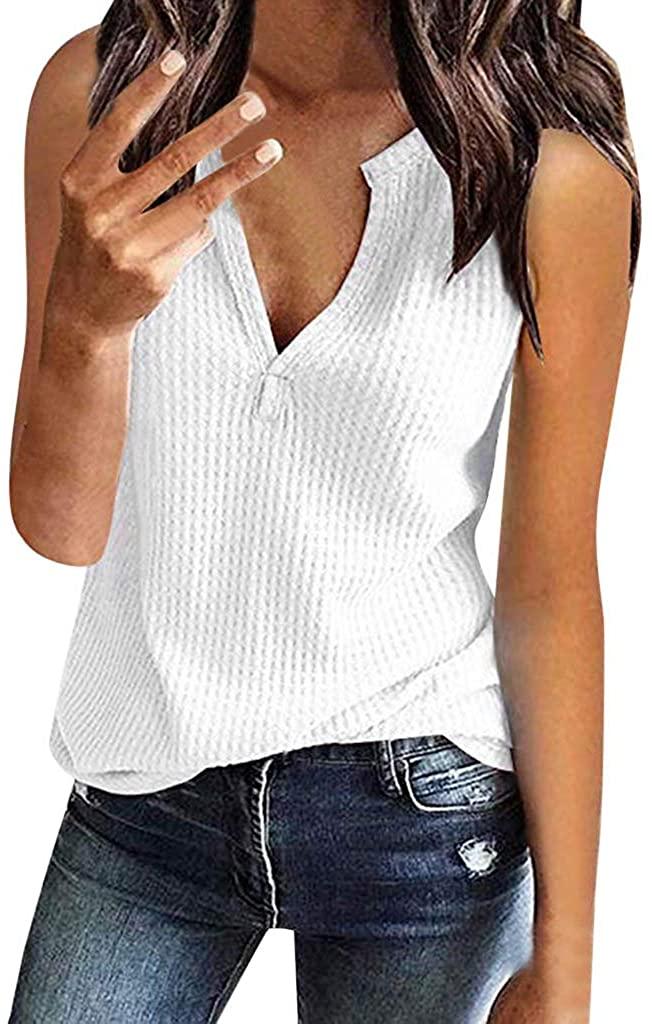 여자 패션 니트 셔츠 민소매 블라우스 솔리드 컬러 풀오버 탑 하이틴 걸스 브이 넥 루즈 탑스