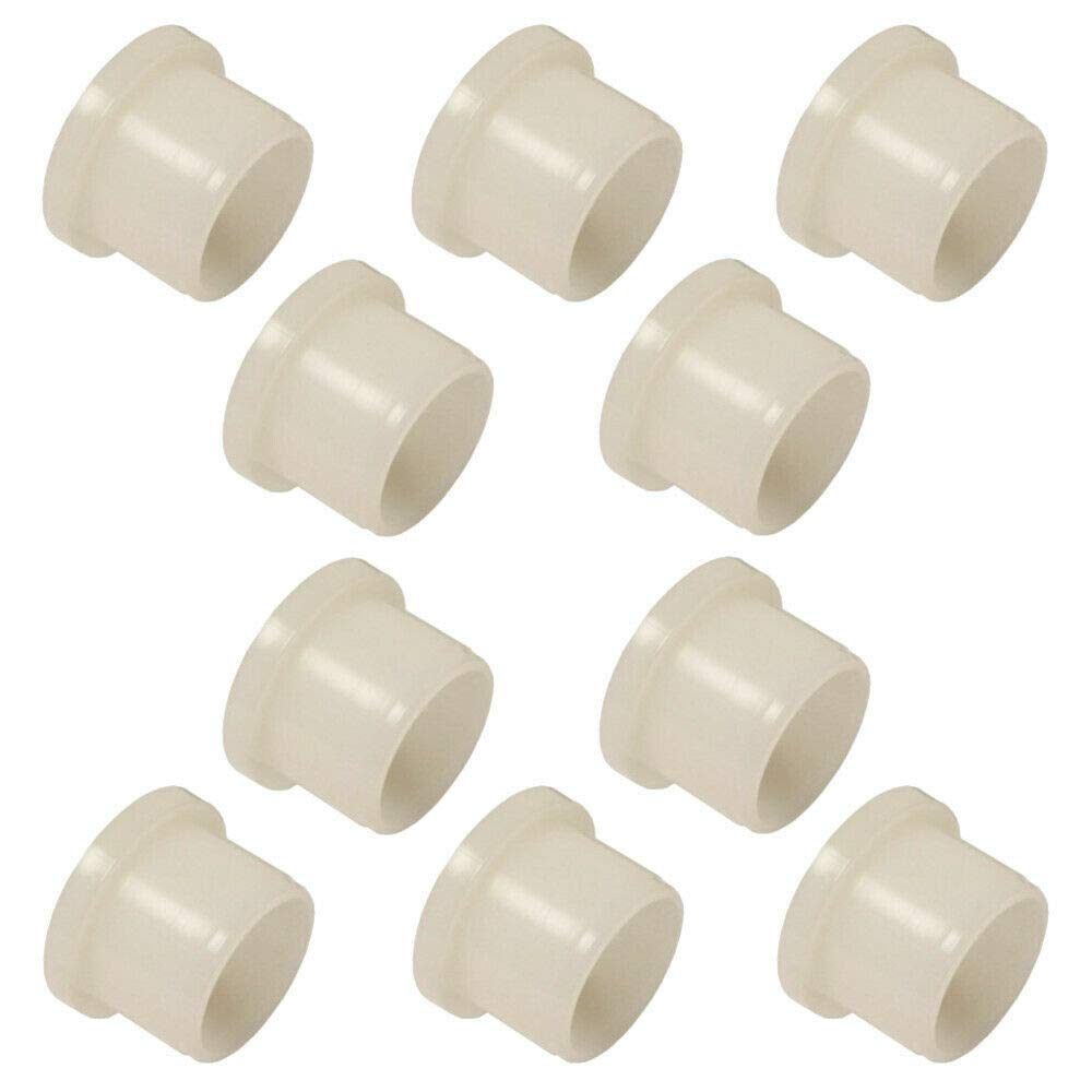 10X NYLON SHOULDER WASHERS BEARING BUSHES COLLAR PLASTIC ISOLATION NATURAL (6 X 8 X 10 X 10 X 2MM)