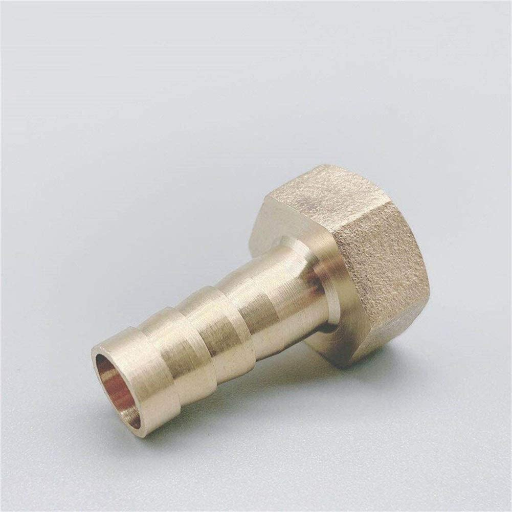 YHMY TUBE CONNECTOR 10PCS BRASS HOSE FITTING 4MM 6MM 8MM 10MM 19MM BARB TAIL 1 | 8 1 | 4 1 | 2 3 | 8 BSP FEMALE THREAD COPPER CONNECTOR JOINT COUPLER ADAPTER DRIP IRRIGATION FITTINGS KIT