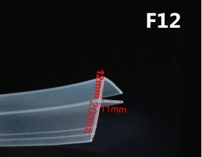 AUARTMETION1 개 2 메터   몫 확대 F   H 모양 실리콘 고무 샤워 룸 문 창 유리 씰 스트립 웨더 6   8   10   12 미리메터 유리(색상:F12MM X2 미터)