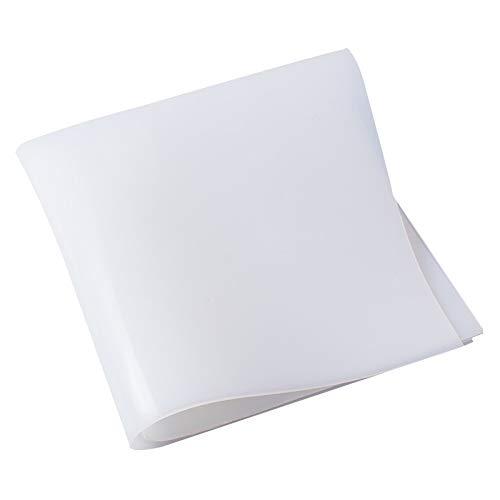 AUARTMETION1PC1.5MM   2MM   3MM   4MM   5MM   6MM   8MM 유백색 백색 실리콘 고무를 위한 장을 열 저항하는 쿠션 크기 500X500MM(색상:흰색 크기:0.3)