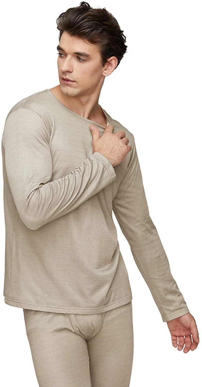 BRSL 전자기 방사선 방어적인 남성에 맞는 속옷 EMF 차폐 가 캐주얼 360°SHIELDING 옷 100%년 실버 섬유 긴 속옷 실버 L
