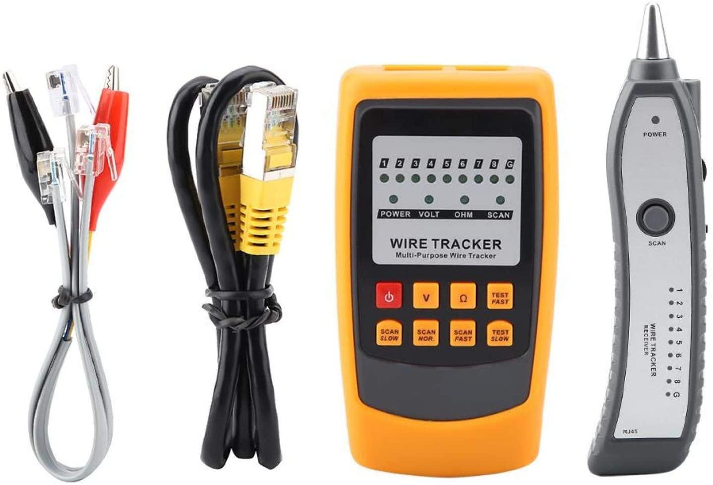 케이블 트래커 전기 라인 파인더 와이어 트래커 연속성 검사를위한 핸드 헬드 신속한 이더넷 LAN LCD 디스플레이