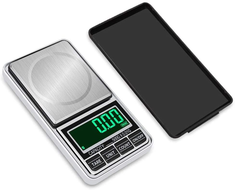 YZSHOUSE0.01G 디지털 방식으로 소형 저울을 포켓 보석 가늠자의 정밀한 전자 무게를 다는 균형 BALANCA 스마트 스케일(용량:1KG   0.1G)