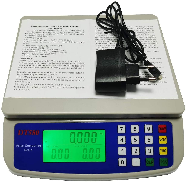 YZSHOUSE30KG   1G 디지털 주방 저울 LCD 디스플레 PC 용기 기능 정밀도 굽는 집 음식 재료의 무게를 다는 가늠자(수용량:25KG-1G)