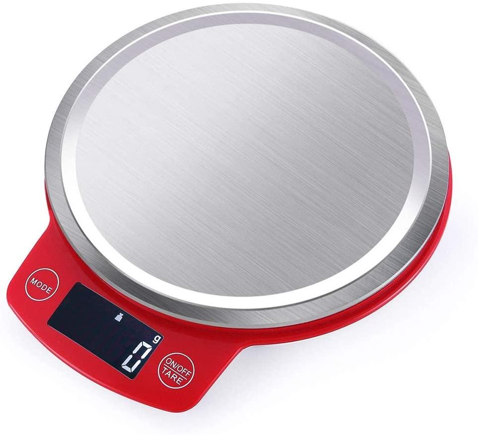 YZSHOUSE3KG   0.1G 주방 저울 음식 규모 제빵 요리 전자 스테인리스 스틸이나 과일과 야채 디지털 주방 저울(크기:5KG   1G)