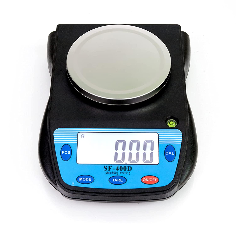 TESMULA GT2-KJ SF-400D500 그램   0.01 그램 휴대용 전자 실험실 규모 블랙