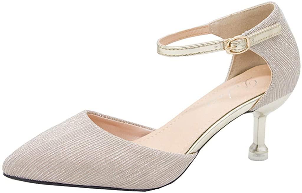 HLENLO 여름 패션 버튼을 신발 뒤꿈치 팁 FINE-이힐 샌들 드레스 비즈니스 파티 샌들 패션 샌들